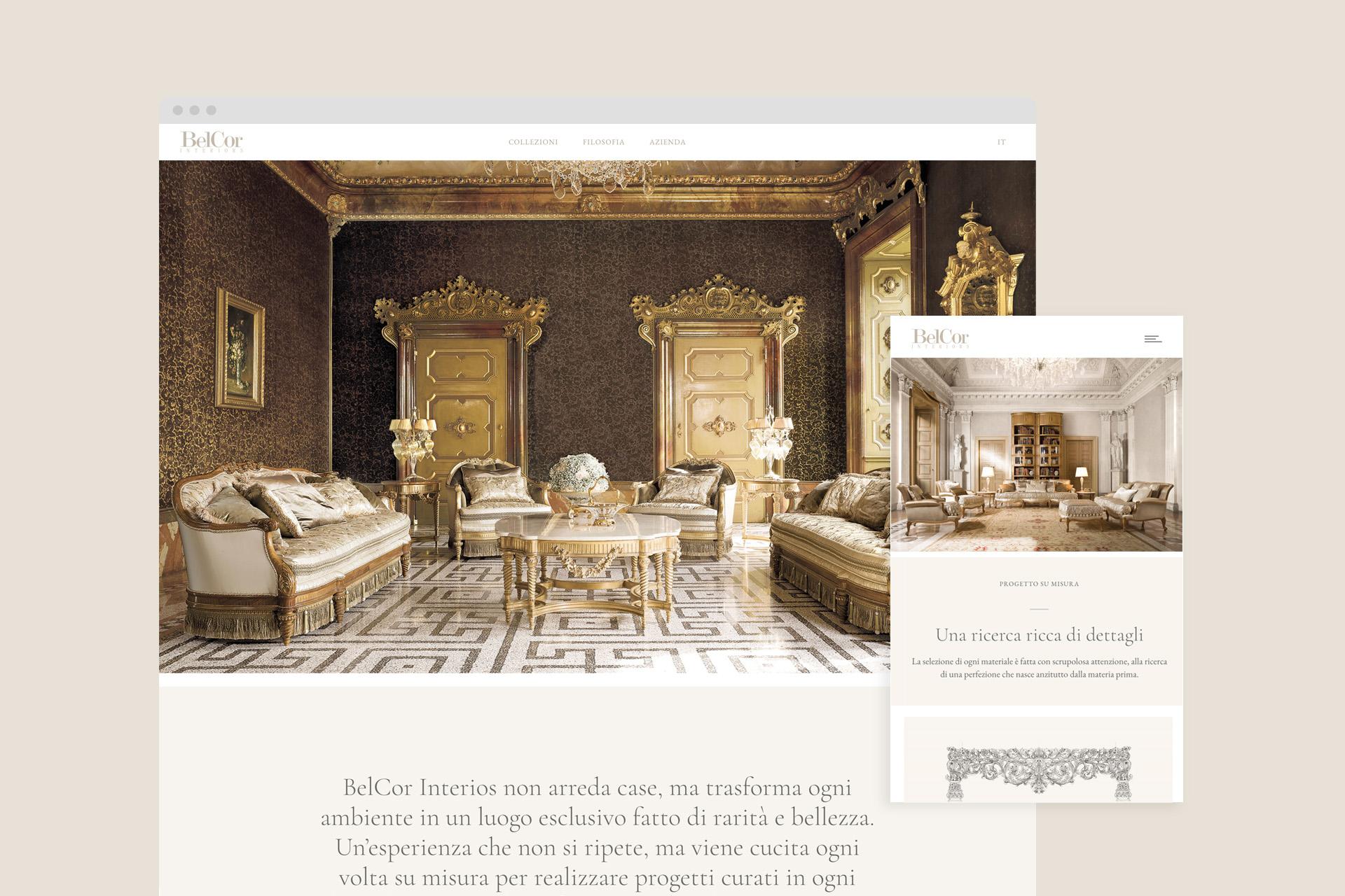sito belcor home_web