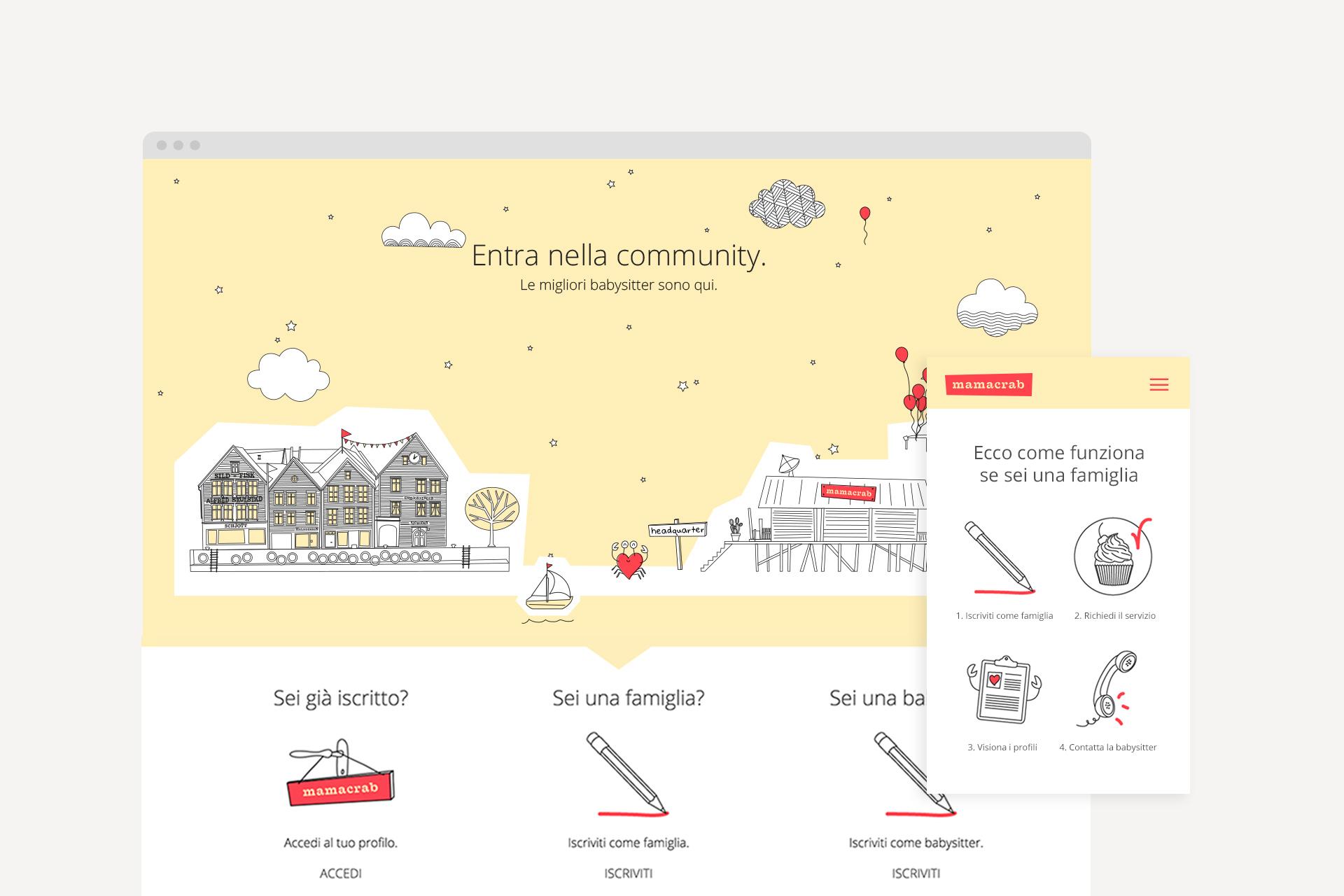 sito mamacrab come funziona_web